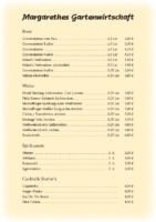 Speise- und Getränkekarte 2021